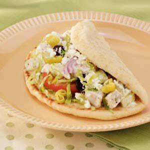 Greek Turkey Pitas Recipe