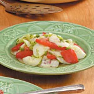 Cucumber Tomato and Green Onion Salad Recipe