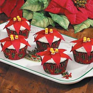 Poinsettia Cupcakes Recipe