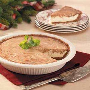 Chocolate-Swirl Eggnog Pie