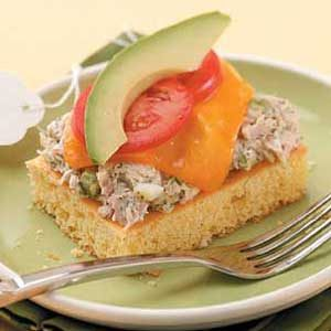 Tuna Melt on Corn Bread Recipe