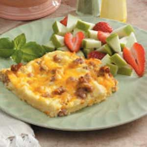 Sausage and Cheddar Breakfast Casserole Recipe