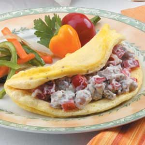 Fluffy Sausage Omelet Recipe