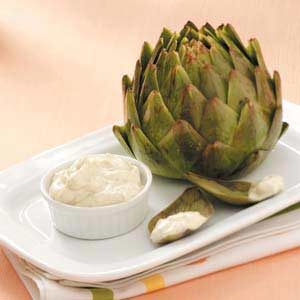 Artichokes with Lemon-Mint Dressing Recipe