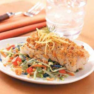 Crispy Cod with Veggies Recipe