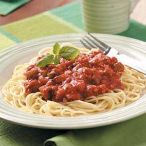 Tangy Meat Sauce Recipe