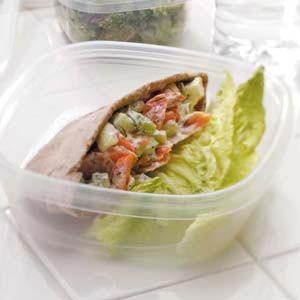 Salmon Salad Pitas Recipe