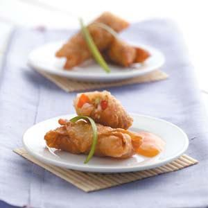Veggie Shrimp Egg Rolls Recipe