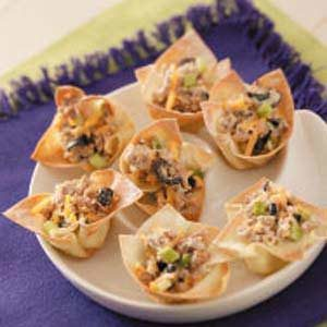 Turkey Wonton Cups
