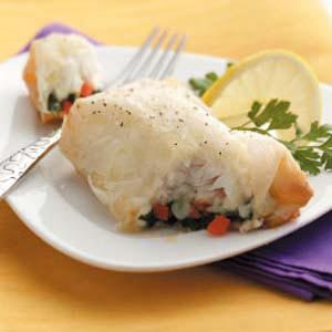 Phyllo-Wrapped Halibut