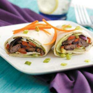 Colorful Beef Wraps Recipe