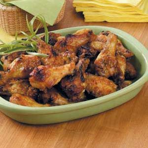 Honey-Mustard Chicken Wings Recipe