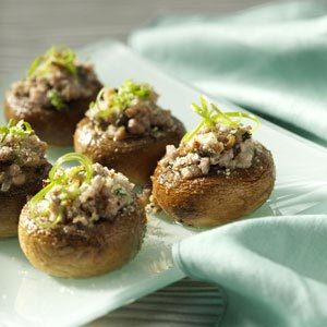 Potluck Sausage-Stuffed Mushrooms Recipe