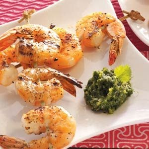 Grilled Shrimp with Cilantro Sauce Recipe