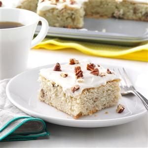 Banana-Pecan Sheet Cake Recipe