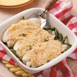 Asparagus Fish Bake Recipe