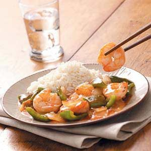 Barbecue Shrimp Stir-Fry