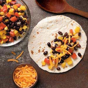 Cheesy Black Bean Quesadillas