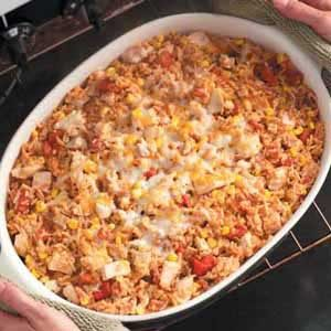 Spanish Rice Turkey Casserole Recipe