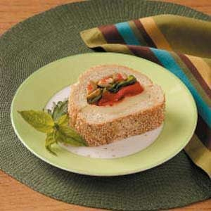Basil Red Pepper Sandwiches Recipe
