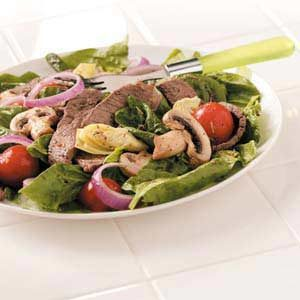 Artichoke Grilled Steak Salad Recipe