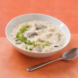 Chicken Wild Rice Soup with Mushrooms
