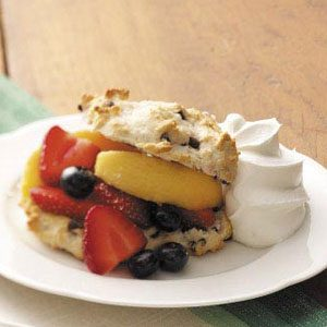 Three-Fruit Shortcakes Recipe