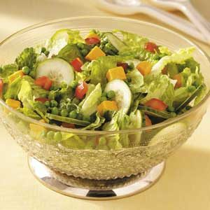 Cheddar 'n' Pea Tossed Salad Recipe