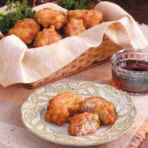 Corn 'n' Ham Fritters Recipe