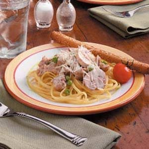 Pasta with Sausage Cream Sauce Recipe