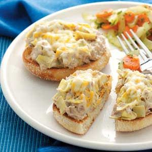 Tuna Artichoke Melts Recipe