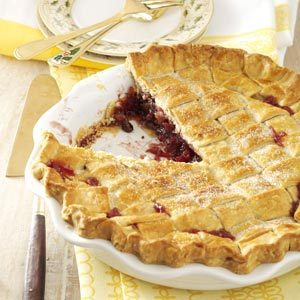 Walnut-Cranberry Lattice Pie Recipe photo by Taste of Home