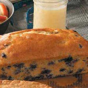 Blueberry Quick Bread with Vanilla Sauce Recipe