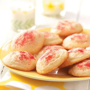 Raspberry Sparkle Drop Cookies
