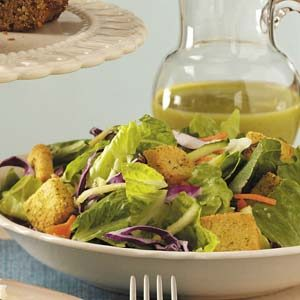Tossed Salad with Pine Nut Dressing Recipe
