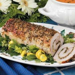 Roasted Herb-Stuffed Pork Loin Recipe