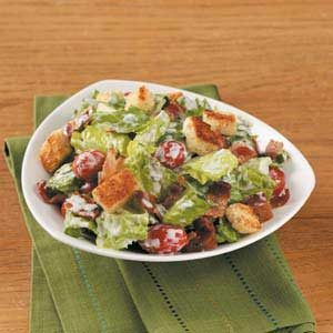 BLT Salad with Croutons Recipe