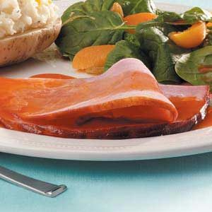 Ham with Ruby-Red Glaze Recipe