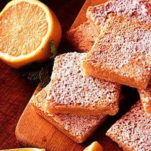 Lemon Filbert Tea Bars Recipe