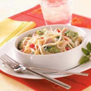 Creamy Turkey Fettuccine Recipe