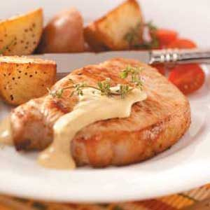 Pork Chops with Dijon Sauce Recipe | Taste of Home