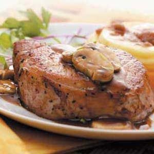 Tarragon Chops with Mushrooms Recipe