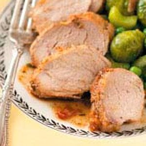 Pork Tenderloin with Fig-Orange Glaze