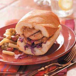 Pork Cabbage Sandwiches Recipe