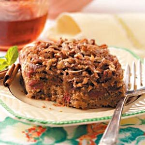 Coconut-Rhubarb Spice Cake Recipe