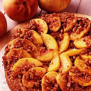 Peachy Sour Cream Coffee Cake Recipe