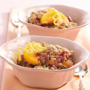 Peach Rhubarb Crisp Recipe