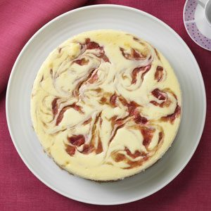 Rhubarb Swirl Cheesecake Recipe