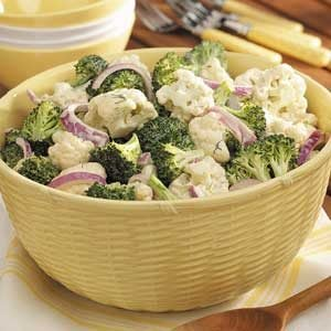 Broccoli-Cauliflower Floret Salad Recipe