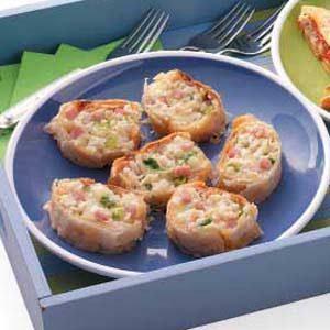 Crab 'n' Brie Strudel Slices Recipe
